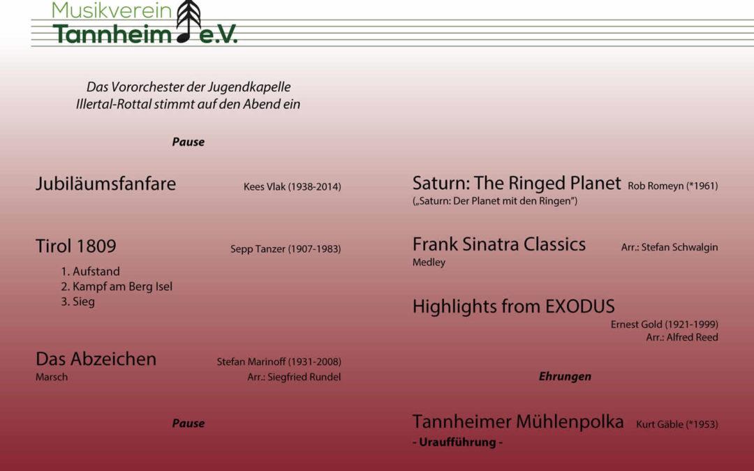 Jahreskonzert des Musikvereins Tannheim